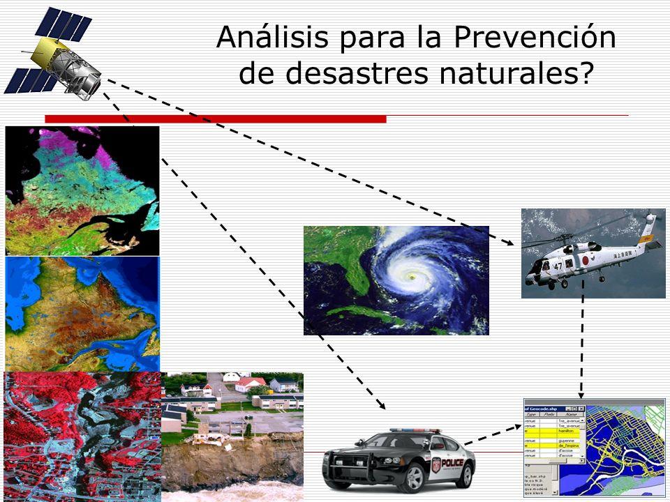 Análisis para la Prevención de desastres naturales?