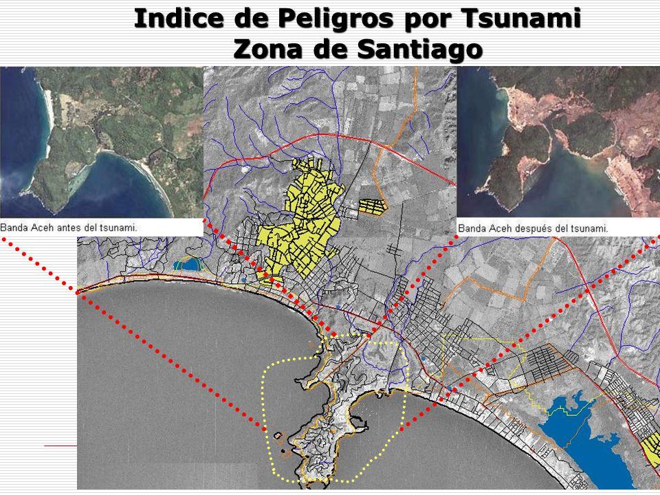 Indice de Peligros por Tsunami Zona de Santiago