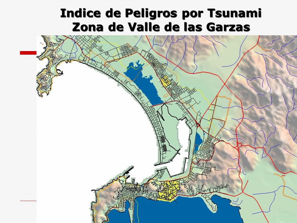 Indice de Peligros por Tsunami Zona de Valle de las Garzas