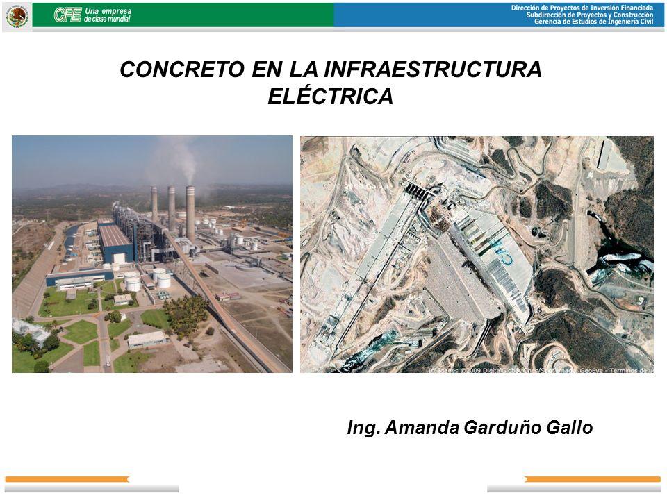CONCRETO EN LA INFRAESTRUCTURA ELÉCTRICA Ing. Amanda Garduño Gallo