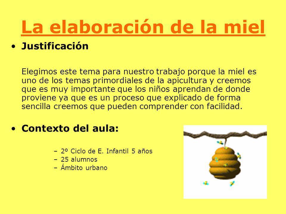 La elaboración de la miel Justificación Elegimos este tema para nuestro trabajo porque la miel es uno de los temas primordiales de la apicultura y cre