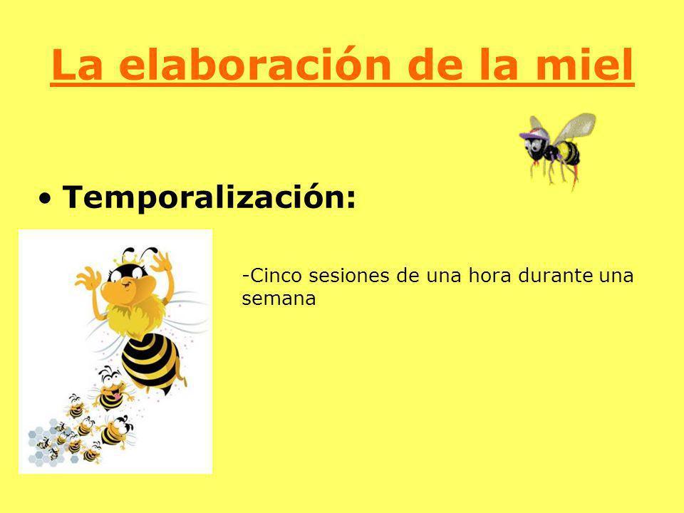 La elaboración de la miel Temporalización: -Cinco sesiones de una hora durante una semana
