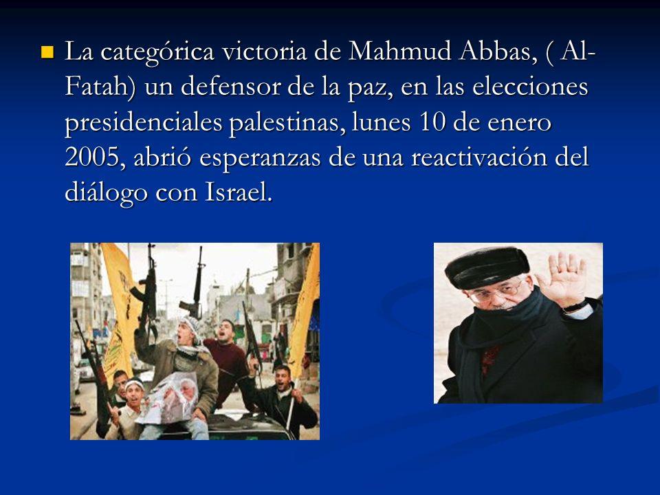 El 25 de enero de 2006, Hamas resulta la lista mas votada, (45,35%)aunque por un pequeño margen sobre la de su rival inmediato Al Fatah, (42,07%).