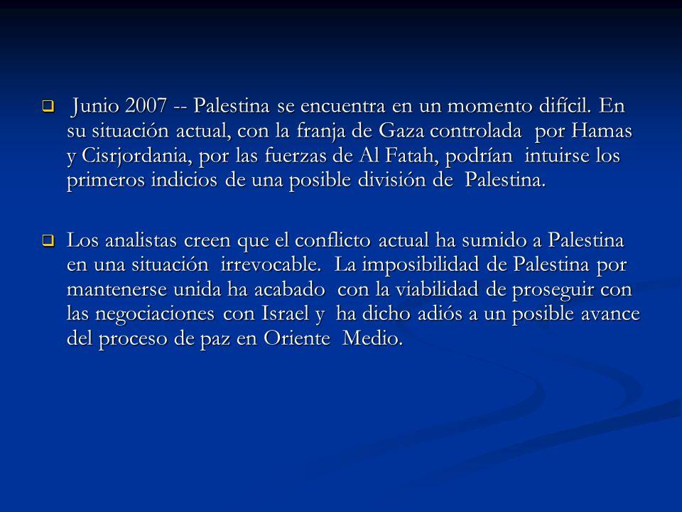 Obama enfatizó su compromiso con un acuerdo pacífico: La política de mi gobierno consistirá en buscar de manera activa y agresiva una paz perdurable entre Israel y los palestinos, así como entre Israel y sus vecinos árabes .
