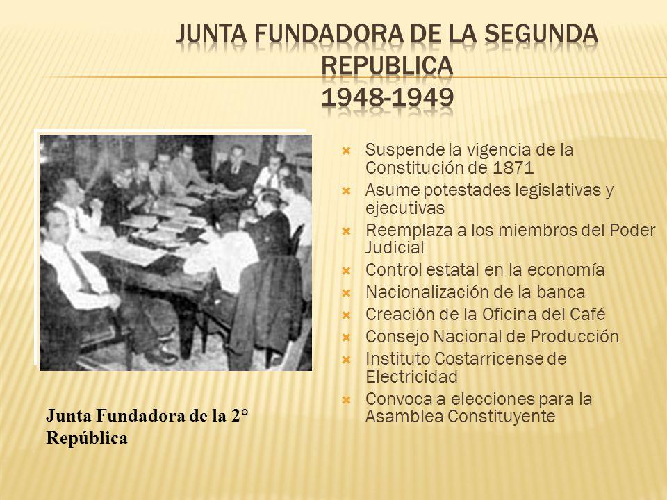 Suspende la vigencia de la Constitución de 1871 Asume potestades legislativas y ejecutivas Reemplaza a los miembros del Poder Judicial Control estatal