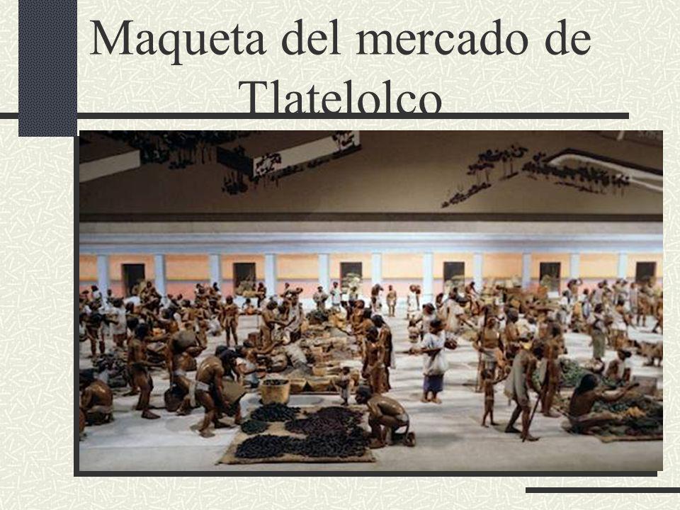 Maqueta del mercado de Tlatelolco