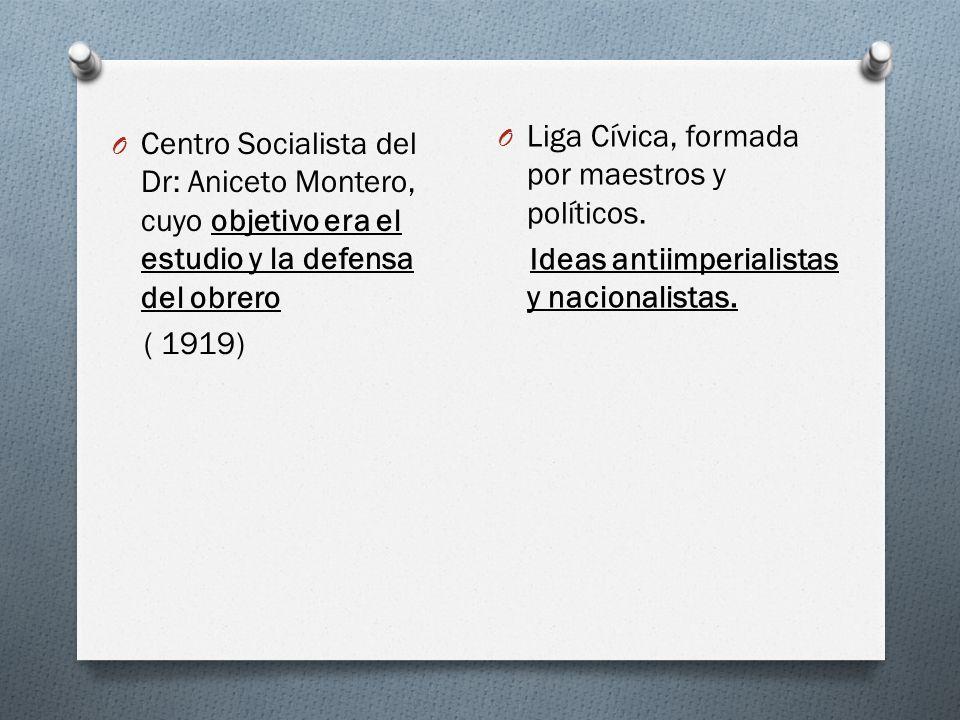 O Confederación General de Trabajadores ( 1913). Fue una central sindical, con objetivos de solidaridad, de acción común en la defensa y reinvidicació