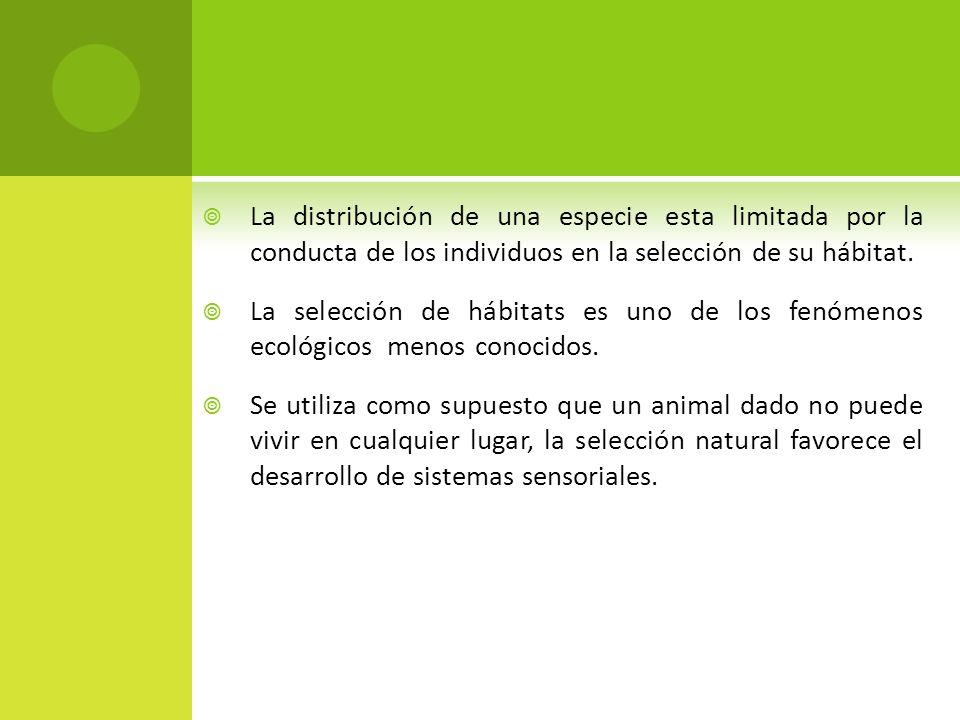 En invertebrados la selección de hábitats suele ser sencilla.