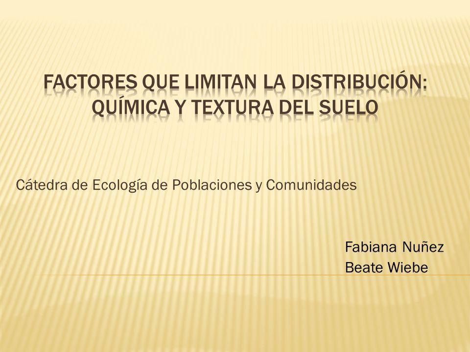 Cátedra de Ecología de Poblaciones y Comunidades Fabiana Nuñez Beate Wiebe