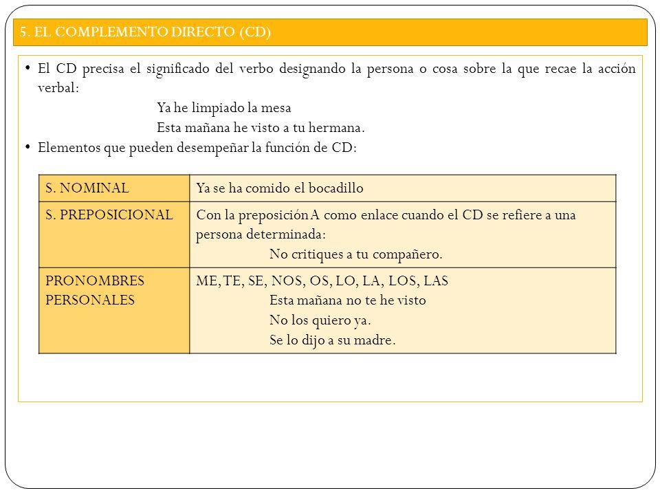 CÓMO IDENTIFICAR EL CD 1.El verbo del predicado NO puede ser copulativo.