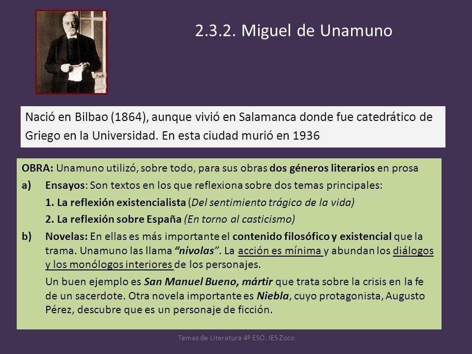 Nació en Bilbao (1864), aunque vivió en Salamanca donde fue catedrático de Griego en la Universidad. En esta ciudad murió en 1936 Temas de Literatura