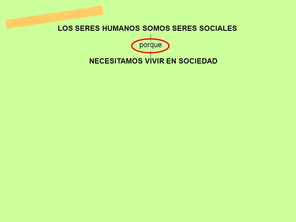LOS SERES HUMANOS SOMOS SERES SOCIALES NECESITAMOS VIVIR EN SOCIEDAD porque