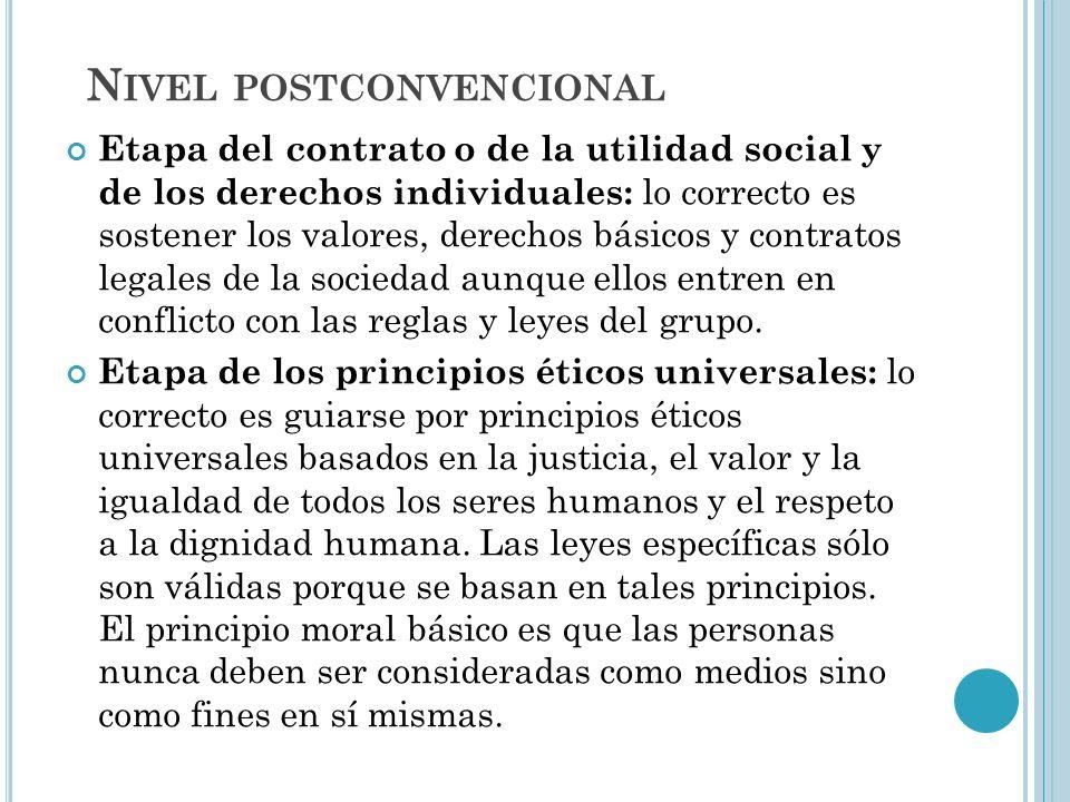 Etapa del contrato o de la utilidad social y de los derechos individuales: lo correcto es sostener los valores, derechos básicos y contratos legales d