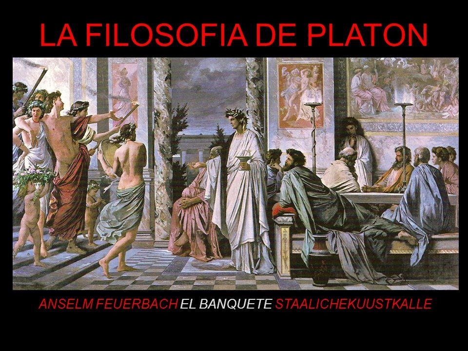 PLATON ARISTOCLES, LLAMADO PLATÝS (ANCHO) DESCENDIENTE DE SOLÓN Y PARIENTE DE CRITIAS Y DE CÁRMIDES, MIEMBROS DEL GOBIERNO DE LOS TREINTA TIRANOS SUS FUERTES CONVICCIONES POLÍTICAS LE LLEVAN A INTERESARSE POR EL GOBIERNO DE LA POLIS, SIN MUCHO ÉXITO (JAMÁS SE INCORPORA A LA POLÍTICA) EL INTELECTUALISMO SOCRÁTICO LE LLEVA A AFIANZAR SU ESPERANZA EN LA RAZÓN, SU FE EN EL CONOCIMIENTO COMO CONDICION INESCUSABLE DEL ACIERTO POLÍTICO CONVENCIDO DE QUE LOS ESTADOS ESTAN MAL GOBERNADOS FUNDA LA INSTITUCION ACADEMIA CON LA ESPERANZA DE FORMAR HOMBRES SABIOS CAPACES DE INTERVENIR EN LA LEGISLACION Y GOBIERNO DE LAS CIUDADES, CAPACES DE OBTENER UNA VISIÓN PERFECTA Y TOTAL DE LO QUE ES JUSTO