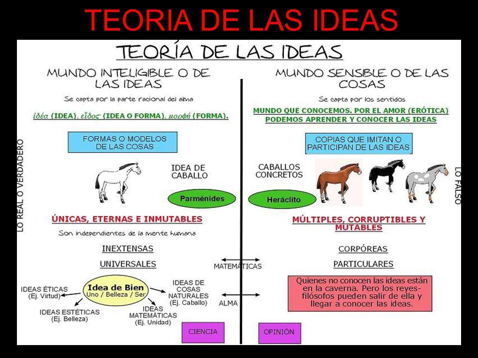 TEORIA DE LAS IDEAS