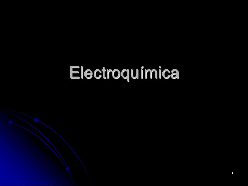 2 Definiciones Se denomina electroquímica a la parte de la química que estudia la interconversión entre energía eléctrica y energía química.