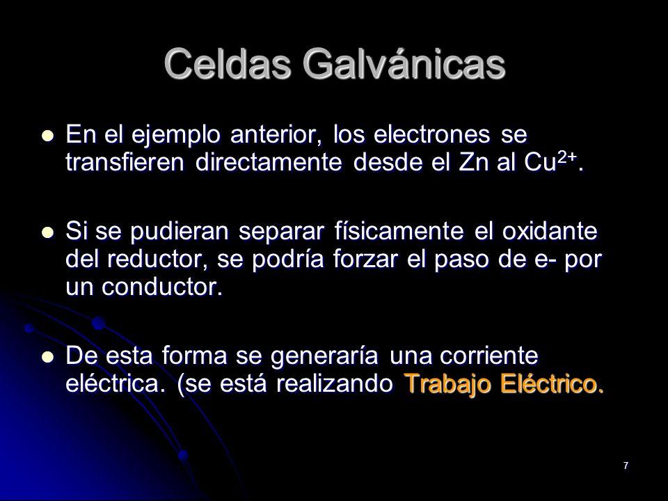 Electroquímica. Jorge Garcia18 Pilas