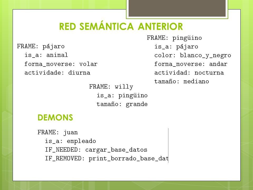 RED SEMÁNTICA ANTERIOR DEMONS