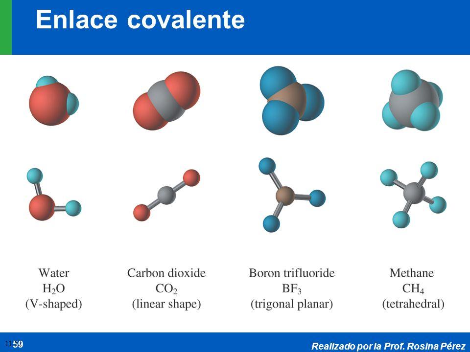 Realizado por la Prof. Rosina Pérez 59 11.12 Enlace covalente