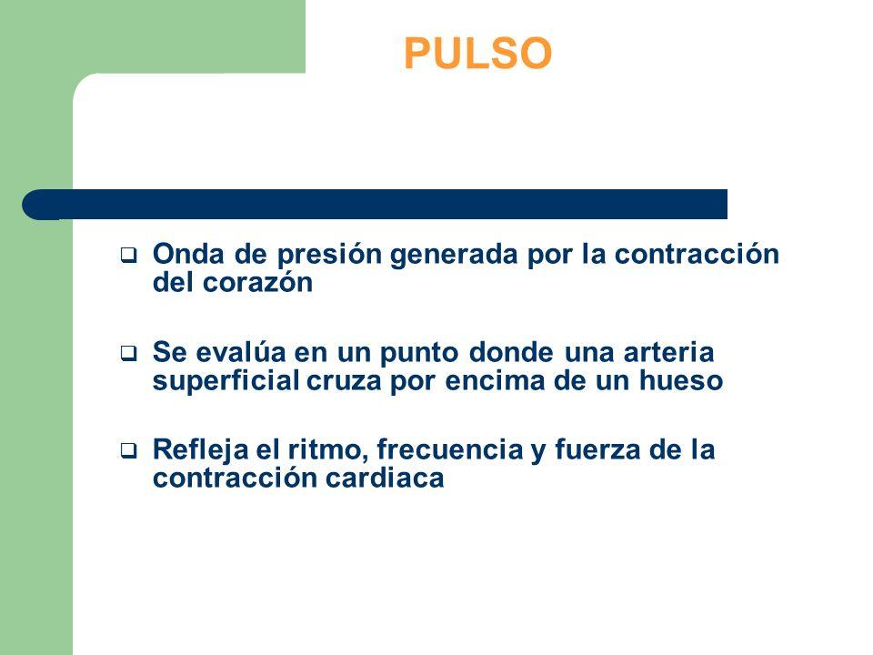 Evaluar el pulso radial si está consciente Si el pulso radial está ausente o el paciente está inconsciente, evaluar el pulso carotídeo.