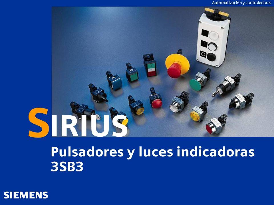 GG-Kennung oder Produktname Automation and DrivesAutomatización y controladores IRIUS S Pulsadores y luces indicadoras 3SB3