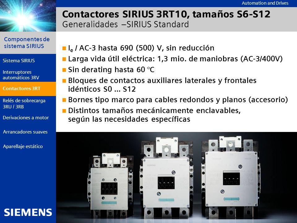 Automation and Drives Componentes de sistema SIRIUS Página 17 © Siemens AG 2006 - Reservadas las modificaciones Aparellaje estático Arrancadores suave