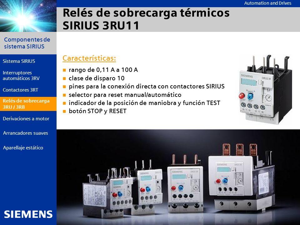 Automation and Drives Componentes de sistema SIRIUS Página 24 © Siemens AG 2006 - Reservadas las modificaciones Aparellaje estático Arrancadores suave