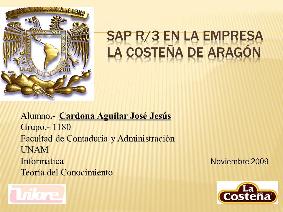 Noviembre 2009 Alumno.- Cardona Aguilar José Jesús Grupo.- 1180 Facultad de Contaduría y Administración UNAM Informática Teoría del Conocimiento