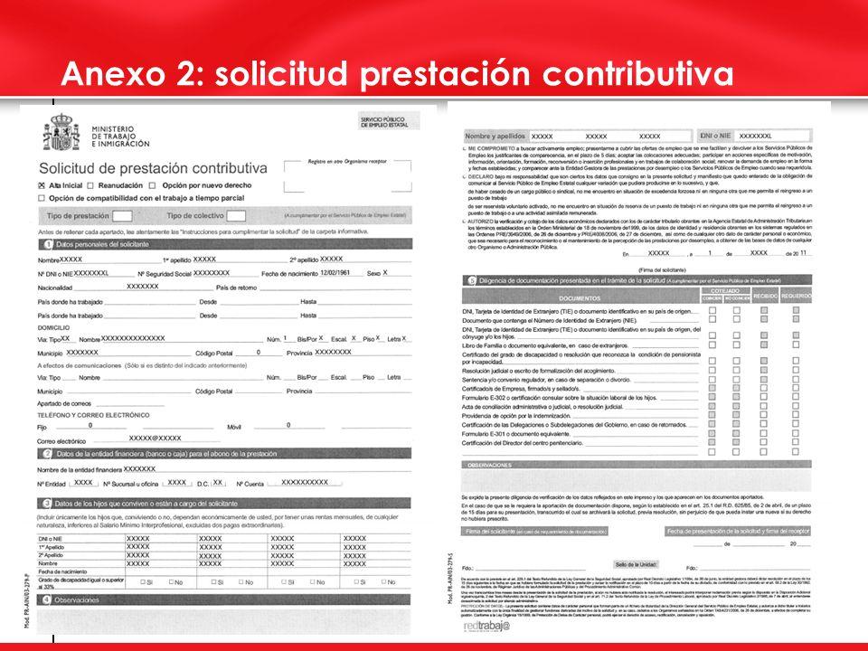 3 Anexo 2: solicitud prestación contributiva
