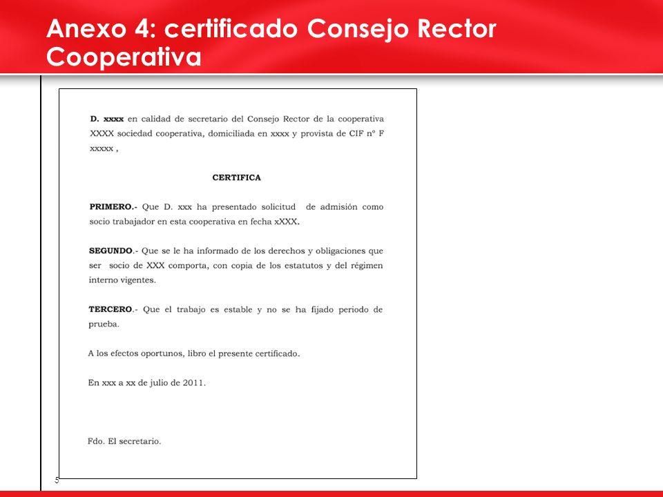 5 Anexo 4: certificado Consejo Rector Cooperativa
