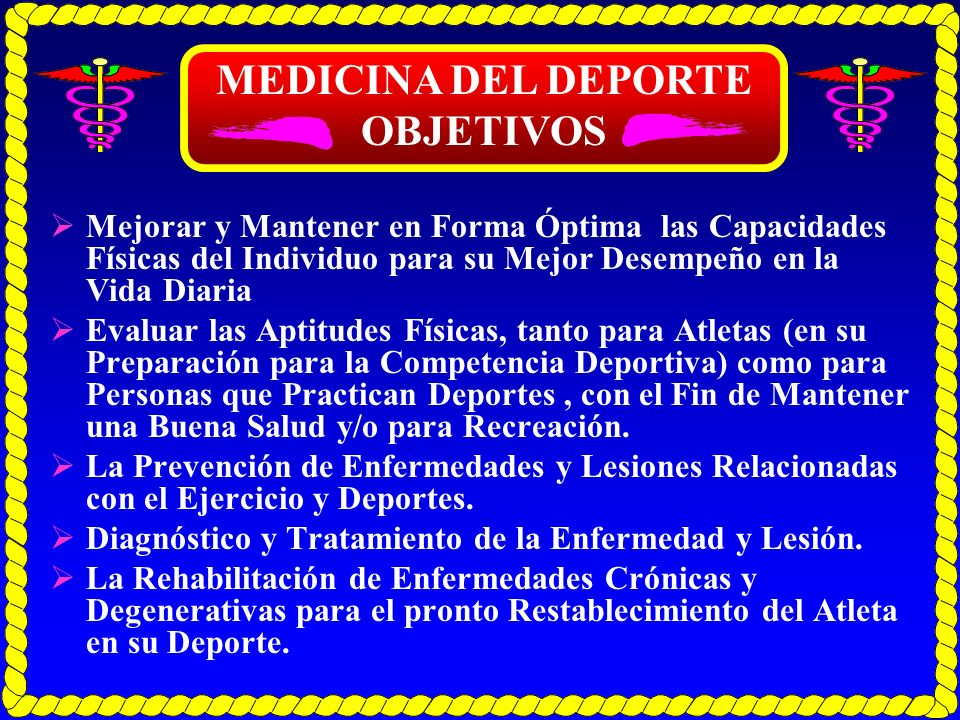EL PERSONAL DE MEDICINA DEPORTIVA PERSONAL AUXILIAR: Médicos Especialistas Consultores Personal Médico Asociado Consultores Generales
