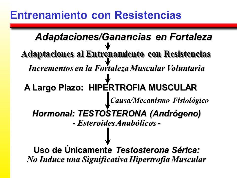 Entrenamiento con Resistencias Adaptaciones/Ganancias en Fortaleza Incrementos en la Fortaleza Muscular Voluntaria Adaptaciones al Entrenamiento con R