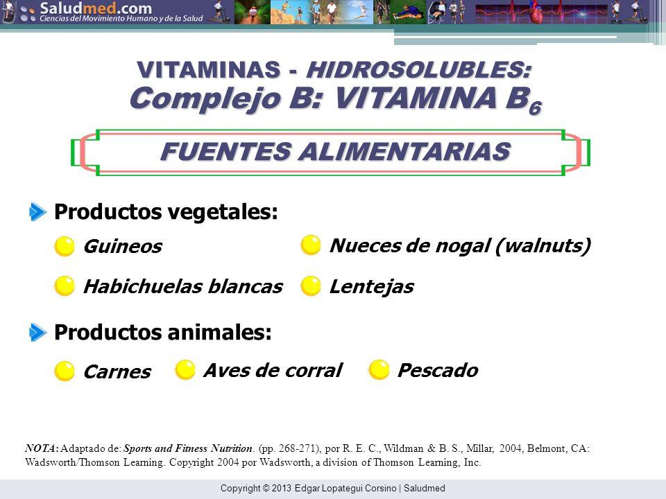 Copyright © 2013 Edgar Lopategui Corsino | Saludmed Involucrada en el metabolismo de los aminoácidos (Ej: transaminación) y el catabolismo del glucóge