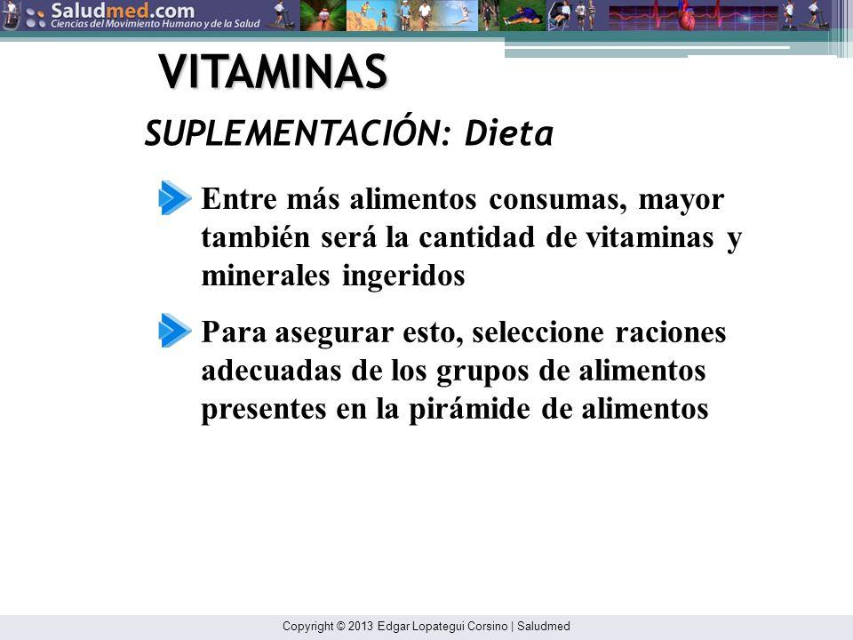 Copyright © 2013 Edgar Lopategui Corsino | Saludmed VITAMINAS RECOMENDACIÓN: Atletas en General No asumir que la supercarga de vitaminas sustituirá la