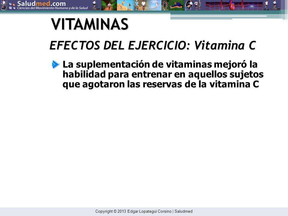 Copyright © 2013 Edgar Lopategui Corsino | Saludmed VITAMINAS VITAMINA C: Ácido Ascórbico No parece mejorar el rendimiento en individuos con una dieta