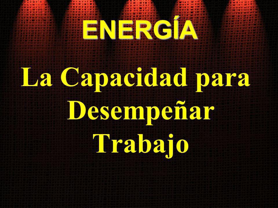 ENERGÍA La Capacidad para Desempeñar Trabajo