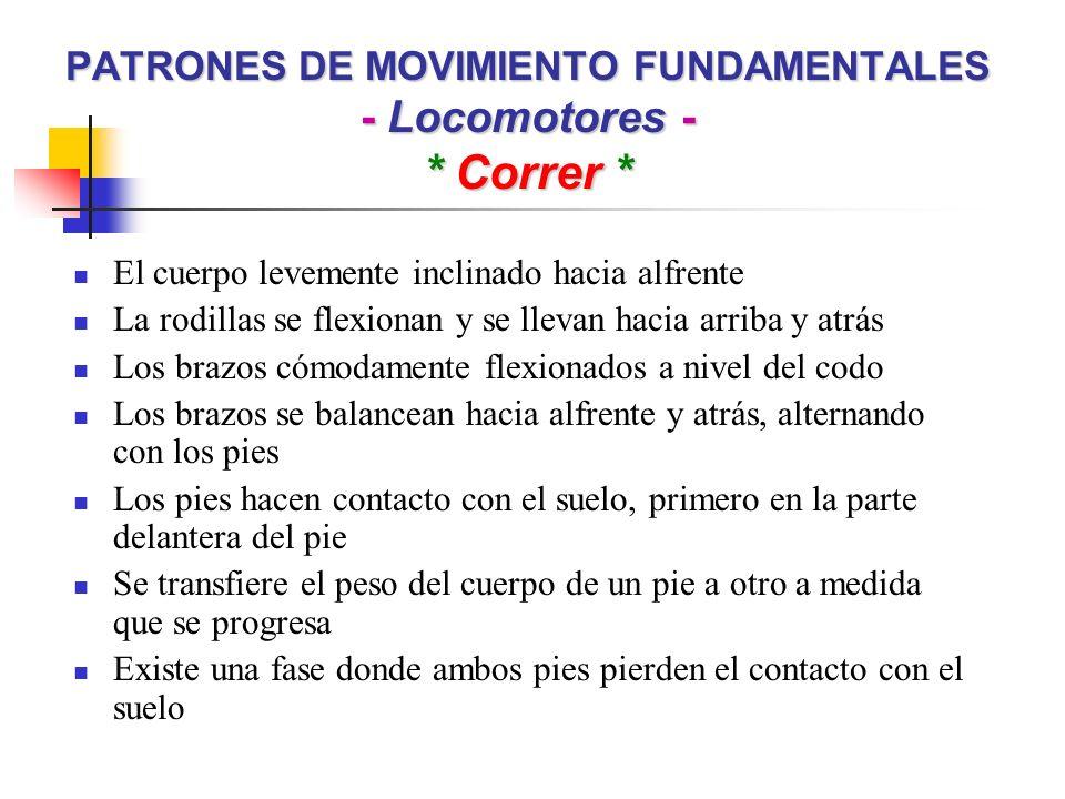 PATRONES DE MOVIMIENTO FUNDAMENTALES - No Locomotores - * Doblar * Flexionar una parte del cuerpo Como resultado, dos partes adyacentes del cuerpo se unen