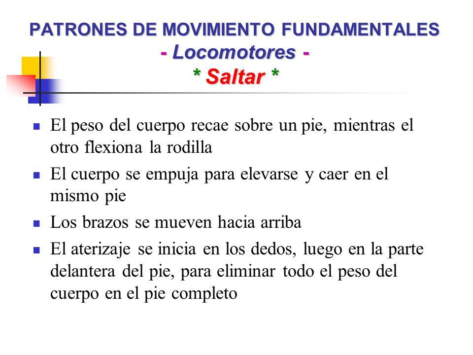 PATRONES DE MOVIMIENTO FUNDAMENTALES - No Locomotores - * Halar * Objetivo: Mover o arrastrar un objeto hacia el cuerpo Las rodillas se flexionan y el cuerpo se inclina levemente hacia el frente.