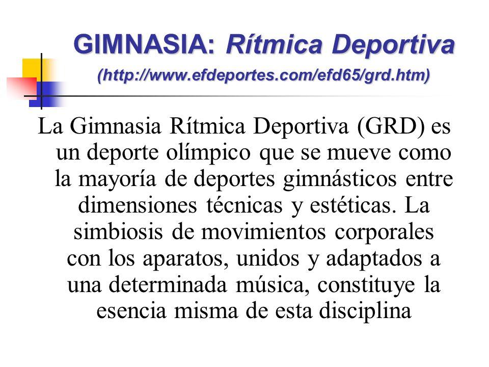 La Gimnasia Rítmica Deportiva (GRD) es un deporte olímpico que se mueve como la mayoría de deportes gimnásticos entre dimensiones técnicas y estéticas