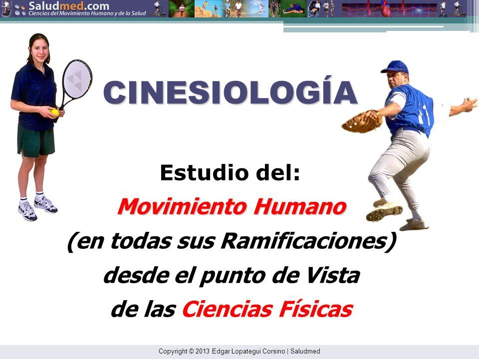 Copyright © 2013 Edgar Lopategui Corsino | Saludmed ANATOMÍA Estudio de las: Estructuras Estructuras del Cuerpo Humano