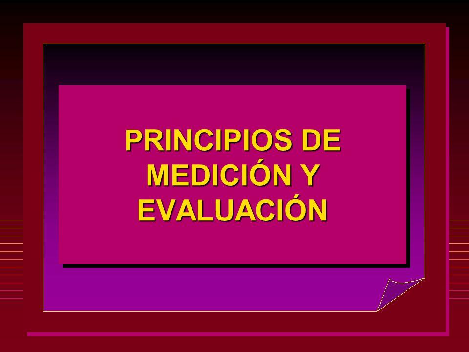 P RINCIPIOS DE MEDICIÓN Y EVALUACIÓN