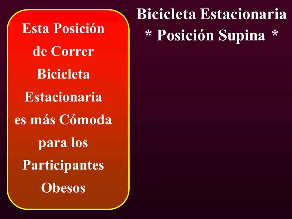 Esta Posición de Correr Bicicleta Estacionaria es más Cómoda para los Participantes Obesos Bicicleta Estacionaria * Posición Supina *