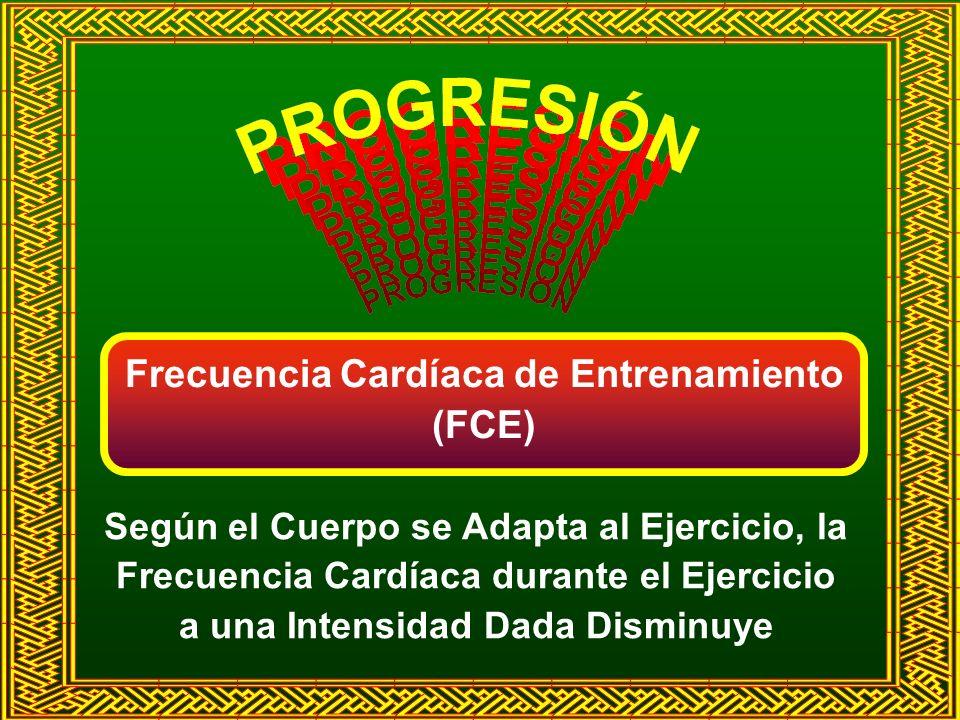 Frecuencia Cardíaca de Entrenamiento (FCE) Según el Cuerpo se Adapta al Ejercicio, la Frecuencia Cardíaca durante el Ejercicio a una Intensidad Dada D