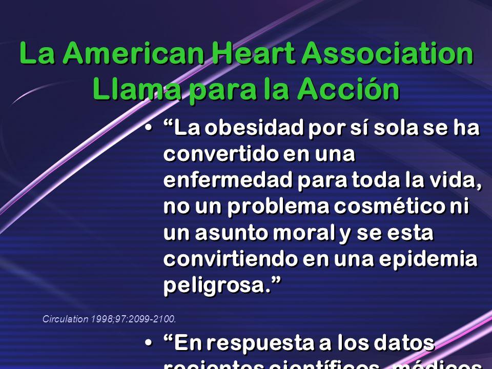 La American Heart Association Llama para la Acción La obesidad por sí sola se ha convertido en una enfermedad para toda la vida, no un problema cosmét