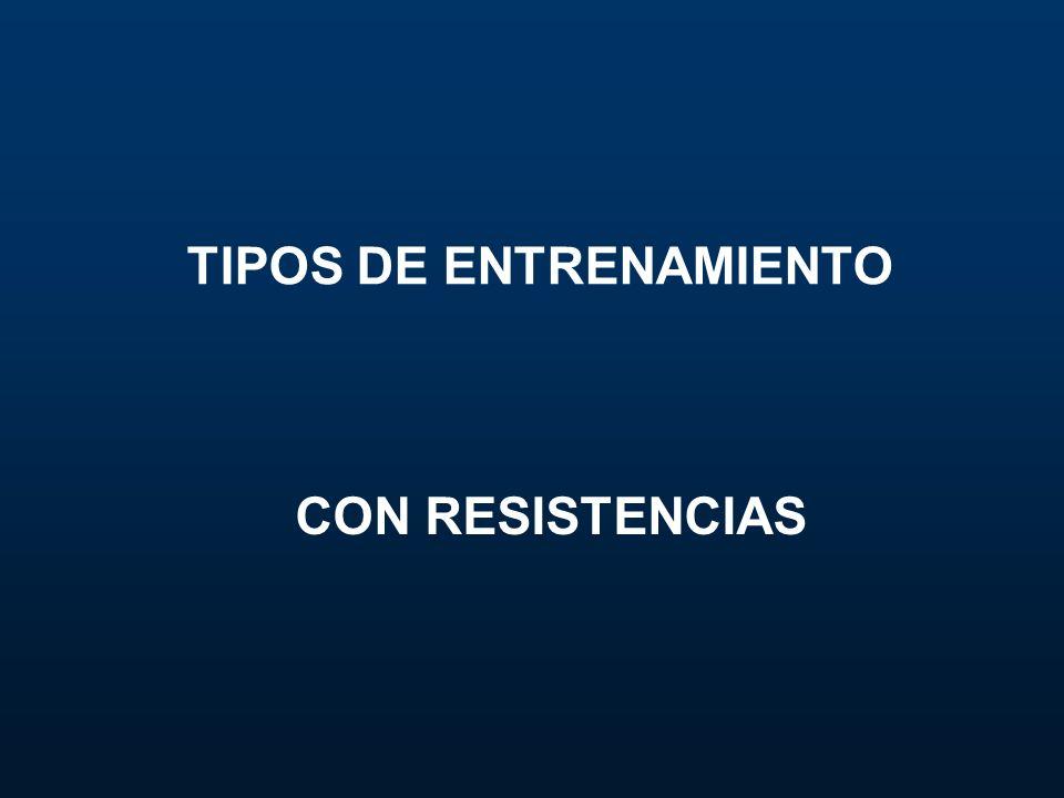 TIPOS DE ENTRENAMIENTO CON RESISTENCIAS