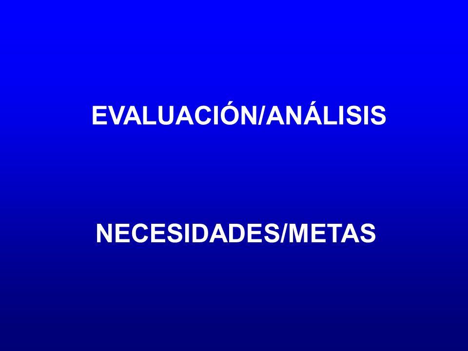 EVALUACIÓN/ANÁLISIS NECESIDADES/METAS