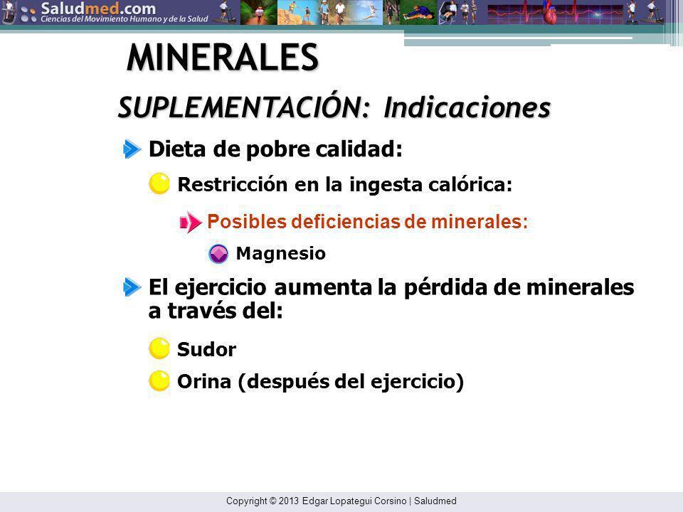 Copyright © 2013 Edgar Lopategui Corsino | Saludmed MINERALES CLASIFICACIÓN: Sin Función Elementos del cuerpo sin función metabólica: Estos son elemen