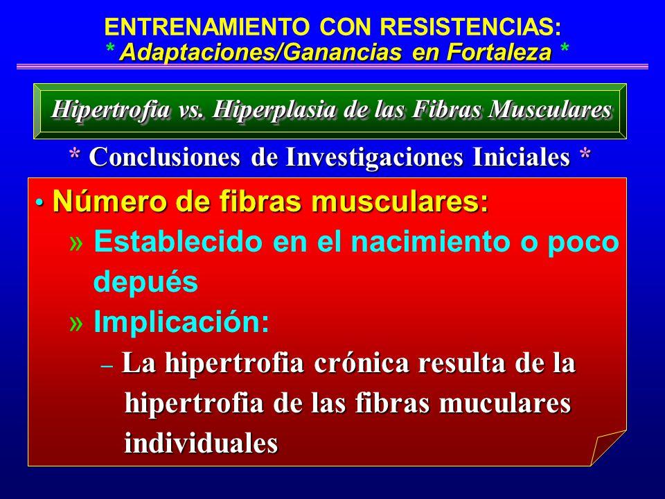 Adaptaciones/Ganancias en Fortaleza ENTRENAMIENTO CON RESISTENCIAS: * Adaptaciones/Ganancias en Fortaleza * * Conclusiones de Investigaciones Iniciale