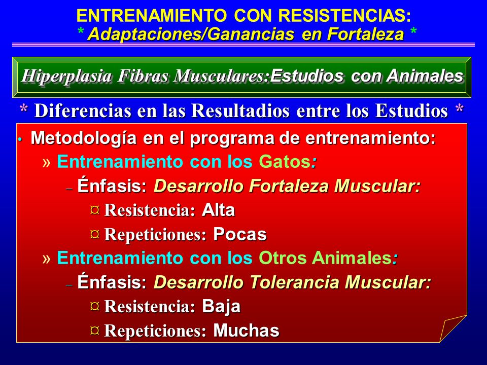 Adaptaciones/Ganancias en Fortaleza ENTRENAMIENTO CON RESISTENCIAS: * Adaptaciones/Ganancias en Fortaleza * * Diferencias en las Resultadios entre los