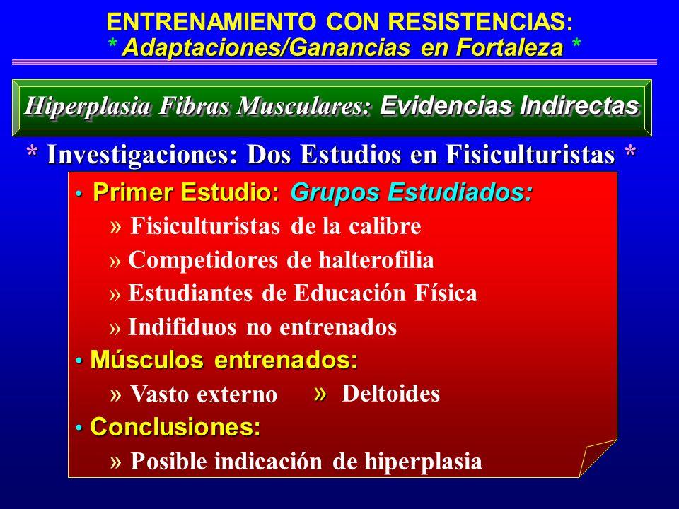 Adaptaciones/Ganancias en Fortaleza ENTRENAMIENTO CON RESISTENCIAS: * Adaptaciones/Ganancias en Fortaleza * Primer Estudio: Grupos Estudiados: Primer